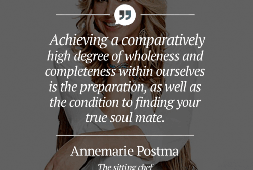 achieving a comparatively 500x336 - Annemarie Postma, The Sitting Chef