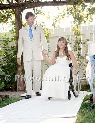 """GJ 2012 003 401x516 - Voices of the Community - A """"paralyzed bride"""" gets married."""