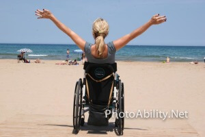 gallery IMG 5133 300x200 - Woman in a wheelchair enjoying a sunny afternoon at the beach