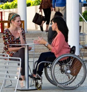 tvkpix 2013 007 282x300 - Woman in a wheelchair in a cafe with her friend