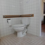 ADA compliant toilet with grab bars 150x150 - Maui Accessible Condo
