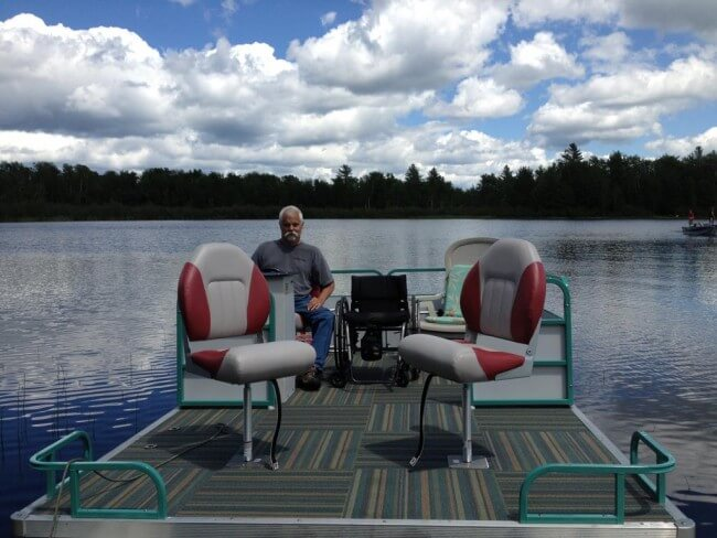 Accessible Pontoon Boat1 - Namakagon Landing Accessible Lakehome