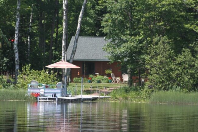 View of home and dock from Lake Namakagon1 - Namakagon Landing Accessible Lakehome