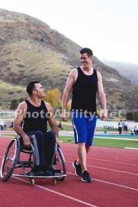 TylerPorter TP 2014 Robert10 200x300 - Man in a wheelchair exercising on an accessible track in Colorad