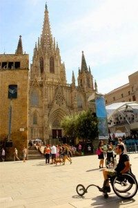 A man in wheelchair 200x300 - Catalonia Holiday, Barcelona & Penedes 7 days tour