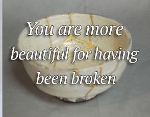 beautyinthebroken e1440829109351 - Acceptance of Loss, Illness and Disability: Broken but Stronger