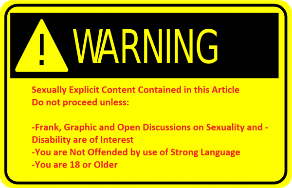 "A yellow warning sign, declaring the article contains ""sexually explicit content"""