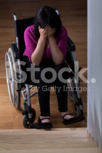 stock photo 46302576 crying disabled woman 200x300 - stock-photo-46302576-crying-disabled-woman