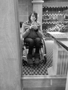 Woman in Wheelchair 225x300 -