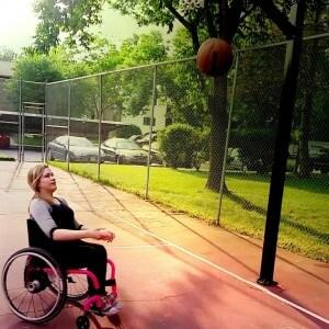 courtney2 300x300 - Courtney in Basket Ball Court