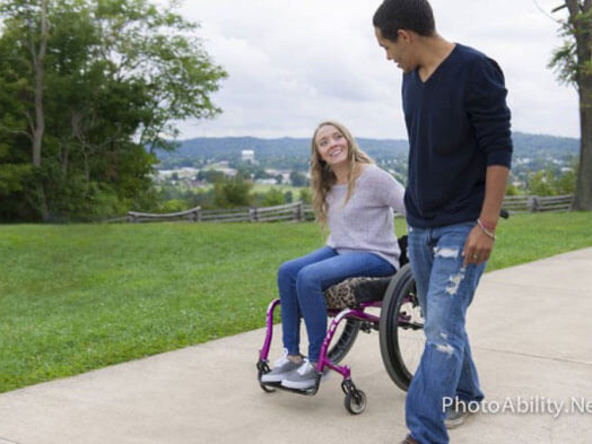 Paraplegic women in wheelchairs