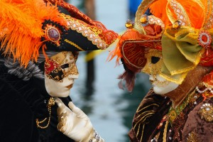 Venice Carnival Masked Lovers 2010 300x200 - false self