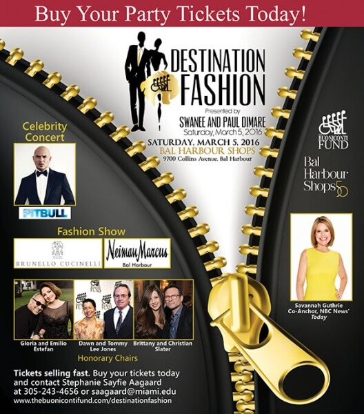 Destination Fashion 2016 to benefit The Buoniconti Fund Buy Party Tickets Now 528x600 - Pit Bull Live at Destination Fashion Event for Buoniconti Fund to Cure Paralysis