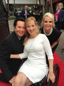 "Wayne Newton Poses on RED carpet at Destination Fashion with Deborah Davis 2 225x300 - Celebrities, Socialites and Sexy High ""Rollers"" Come out to Cure Paralysis"