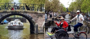 Amsterdam cruize canal1 300x132 - Accessible Bike-and-Wheel Tour of Holland