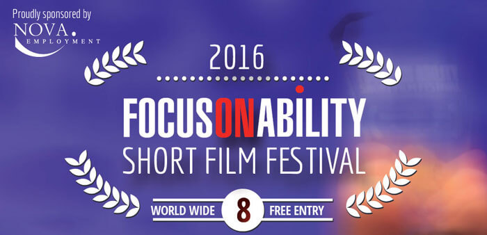 a poster of a focus on ability short film festival