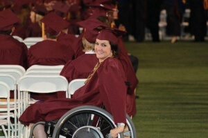 225677 1771572377180 4686371 n 300x200 - Gina graduates from College in a wheelchair