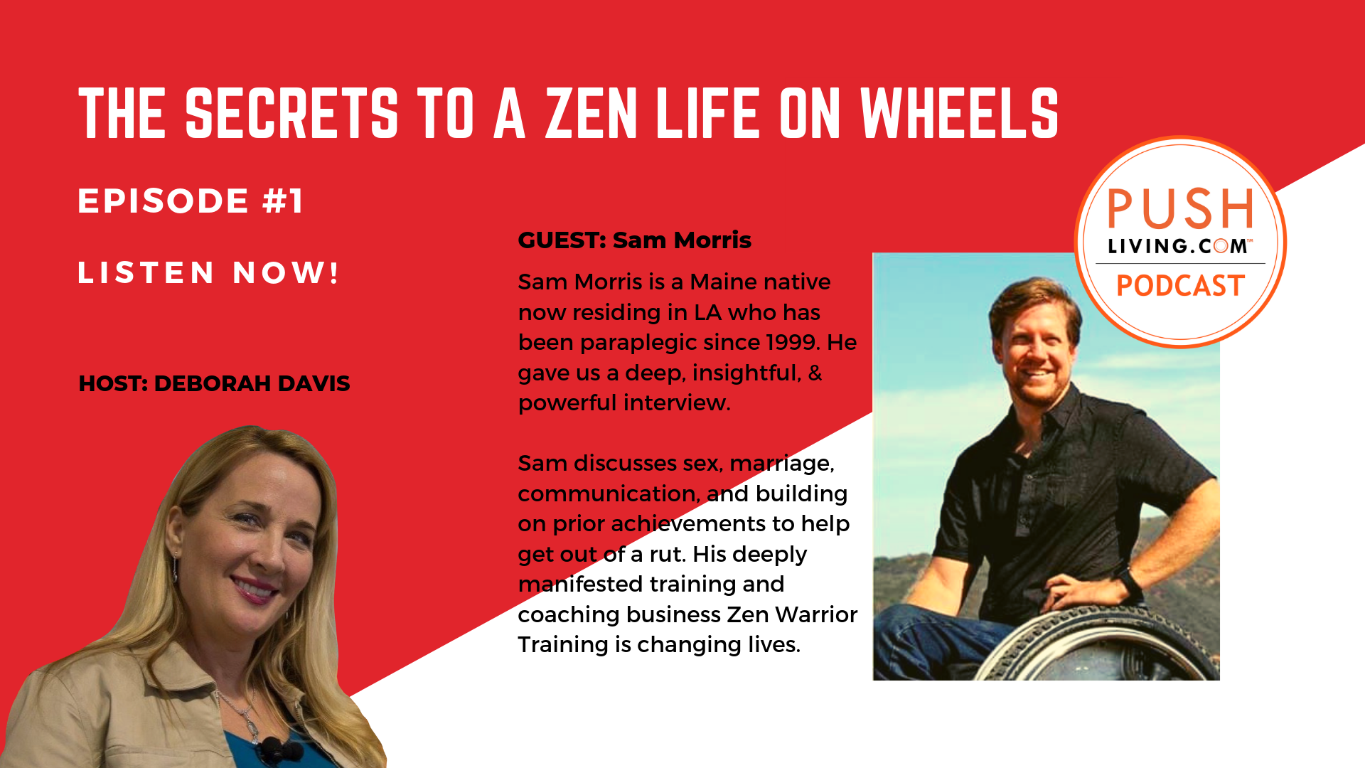 Podcast1 Cover - PUSHLiving Podcast #1 | Sam Morris Shares the Secret to A Zen Life on Wheels
