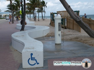 PWD beach shower area 300x225 - Beach Wheelchair