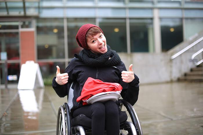 Alexandra Stoffel On a Wheelchair