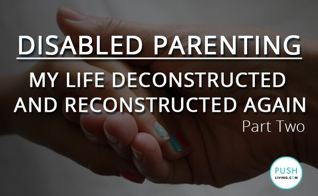 image with a quote on disabled parenting