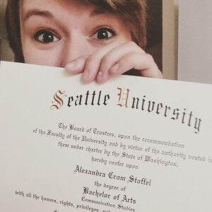 alexandra showing her seattle university diploma 300x300 - alexandra showing her seattle university diploma