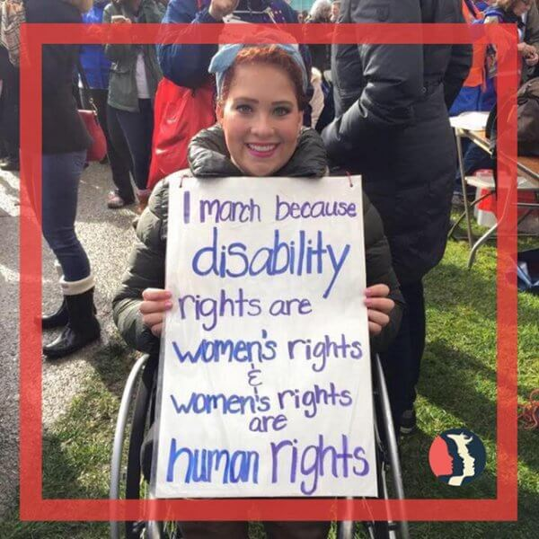 woman holding a poster for women rights 600x600 - I Feel Numb: I Deserve Respect, Dignity and Equality