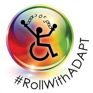 Roll with Adpat 300x300 - Stephanie Woodward Interview: Dragged from Her Wheelchair and Arrested at ADAPT Protest