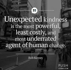 bob quote 300x295 - The Kindness of Strangers