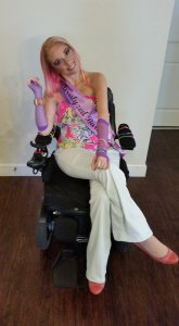 Ali as Wheelchair Barbie 165x300 - The Quirky Quad Debut on PUSHLiving.com