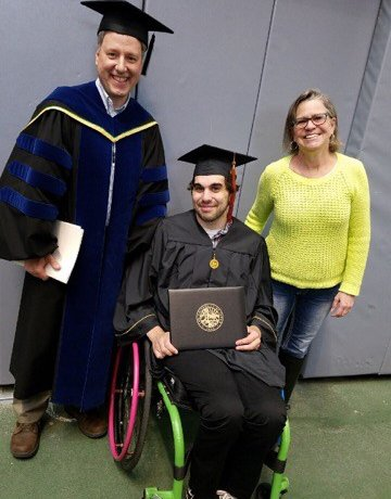 Cody Piscitelli graduates with a B.S. in Environmental Science 360x460 - Watch out World! Here Come the New Batch of Wheelie Bright and Determined Graduates with Disabilities!