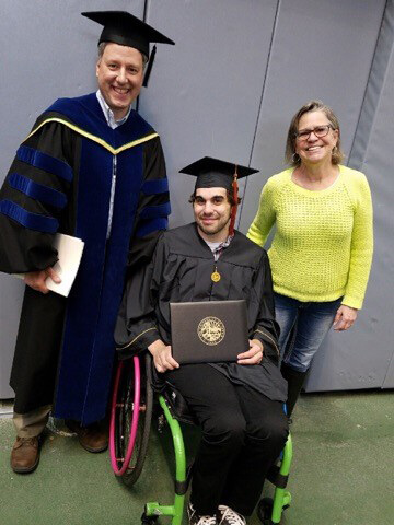 Cody Piscitelli graduates with a B.S. in Environmental Science - Watch out World! Here Come the New Batch of Wheelie Bright and Determined Graduates with Disabilities!