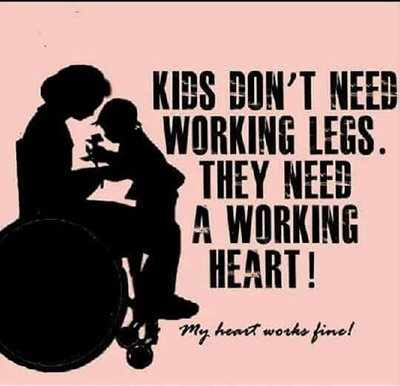 KidsDontNeedWorkingLegs 400x386 - Education and Exposure is Key to Bias Against Disabled Mothers