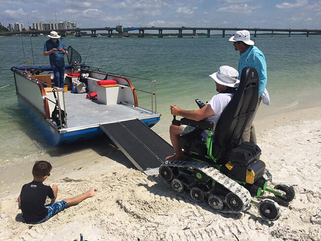 Trac Chair - SW Florida Wheelchair Accessible Fishing Adventure