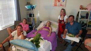aliWithFamily 300x169 - Family Visiting at the Hospital