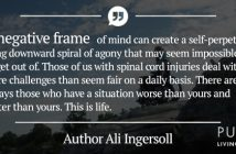 A quote about how a negative frame of mind affects life