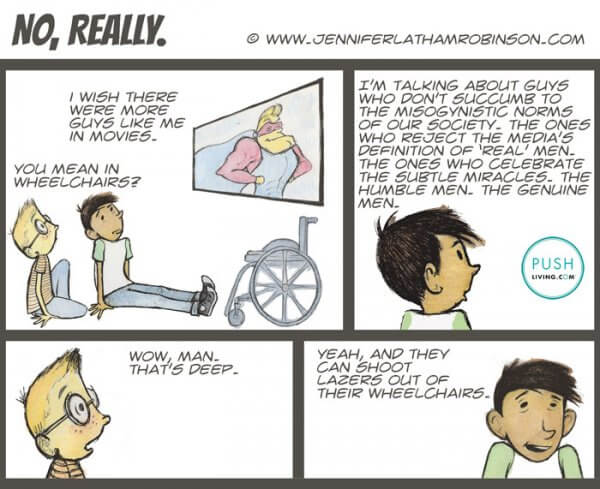 Actors in Wheelchairs 600x489 - PUSHLiving Comic Strip: Actors in Wheelchairs