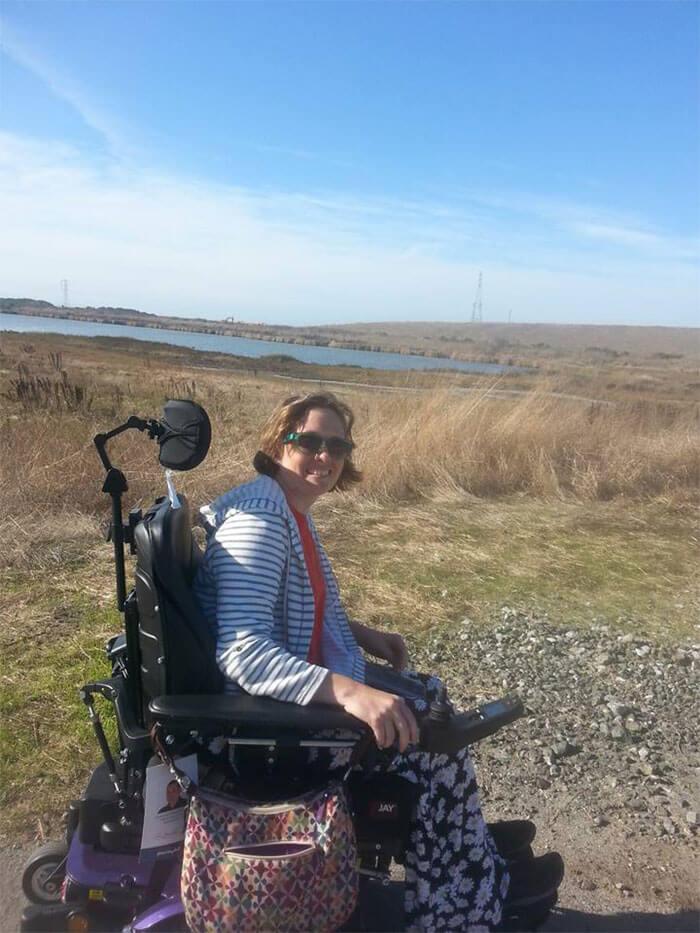 Woman On A Wheelchair Sitting Near A Lake Wheelchair Accessible Living