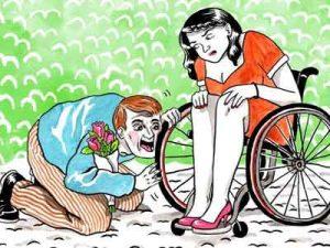 devottee of woman in wheelchairs 300x225 - devotees of woman in wheelchair