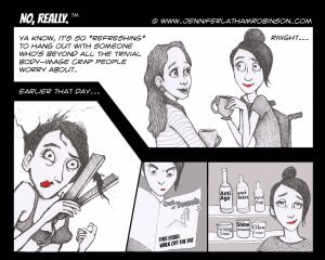 Body Image 300x240 - PUSHLiving Comic Strip: Out of Touch