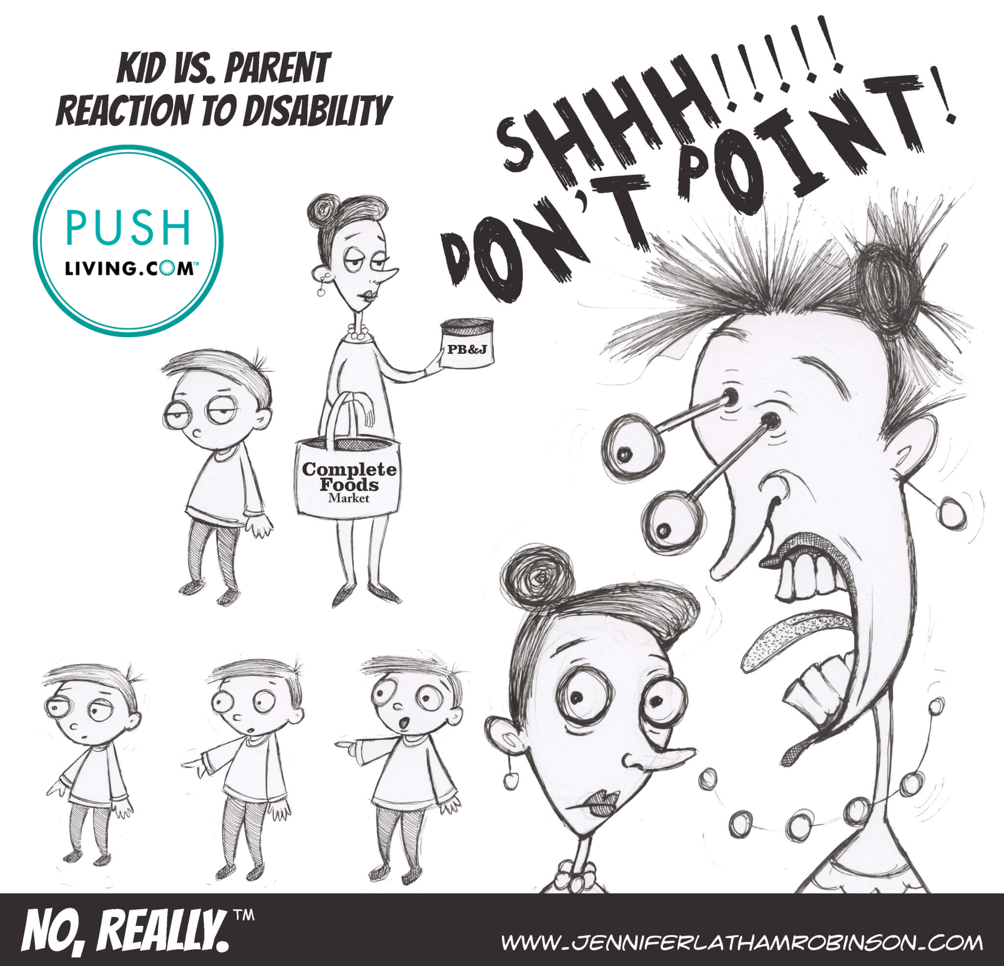 KIDVSPARENTREACTION 1 - PUSHLiving Comic Strip: Kid vs. Parent