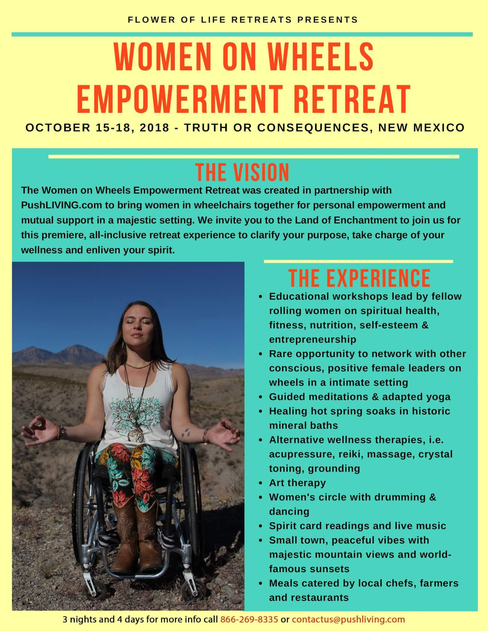 Women on wheels empowerment retreat - PUSHLiving Podcast 018 | WOW! Woman on Wheels Empowerment Retreat with Kristina Rhoades
