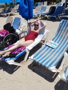 20180418 130551 225x300 - Ali on the beach chair