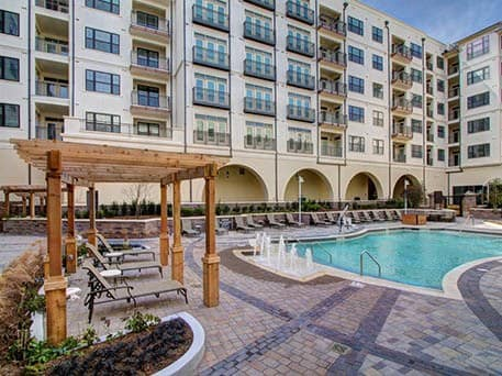 wedding reception apartment complex pool - Wedding Bells & Wheelchairs