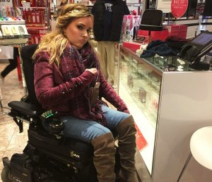Shopping with a wheelchair 300x258 - Shopping with a wheelchair