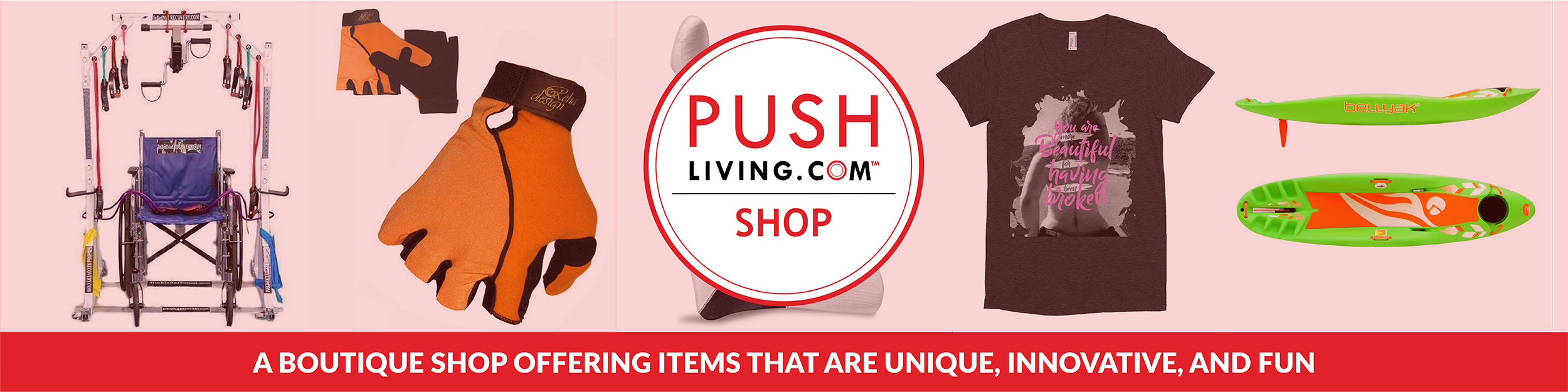 Pushliving Shop - A boutique shop offering items that are unique, innovative, and fun