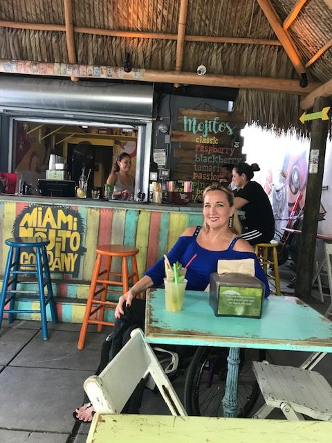 Deborah at Miami Mojito Company e1560443841439 - Where to Roll in Town:  A Wheelchair Users Guide to What is Hot and Trending in Travel
