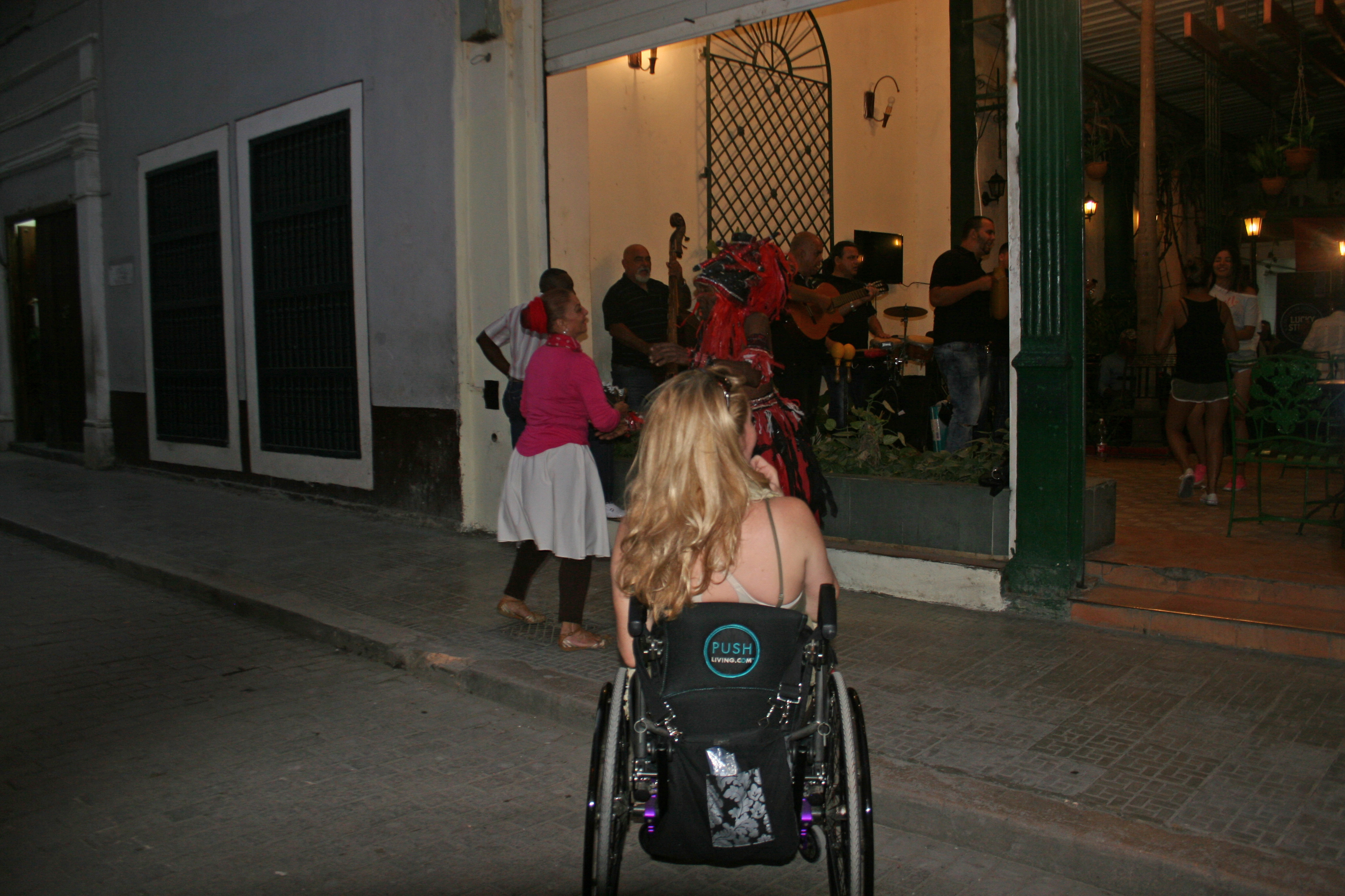 Watching live music from the street - Wheelchair Travel: Cuba Libre? How Free is Cuba for Travelers on Wheels?