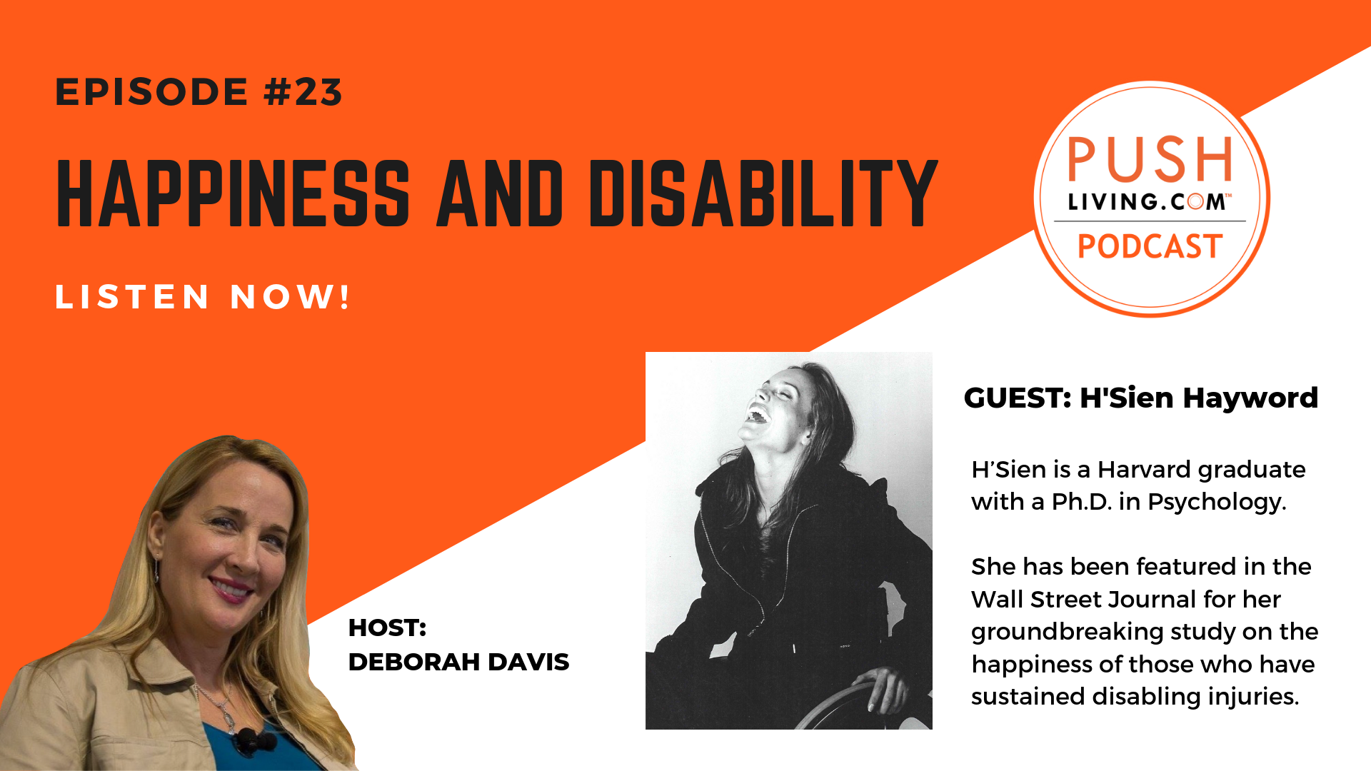 Podcast23 COVER - PUSHLiving Podcast #23: Happiness and Disability with H'Sien Hayword, PH.D