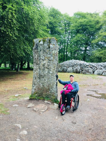 LillyInInvernessScotland.jpeg2 450x600 - PUSHLiving Podcast #26: Wheelchair Travel Guide for Yearning Travelers with Lilly Longshore
